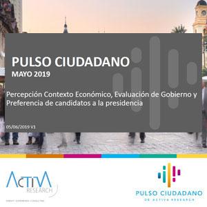 Estudio: Pulso Ciudadano mayo 2019