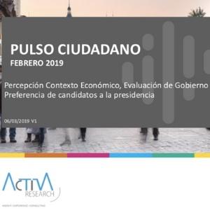 Estudio: Pulso Ciudadano Febrero 2019