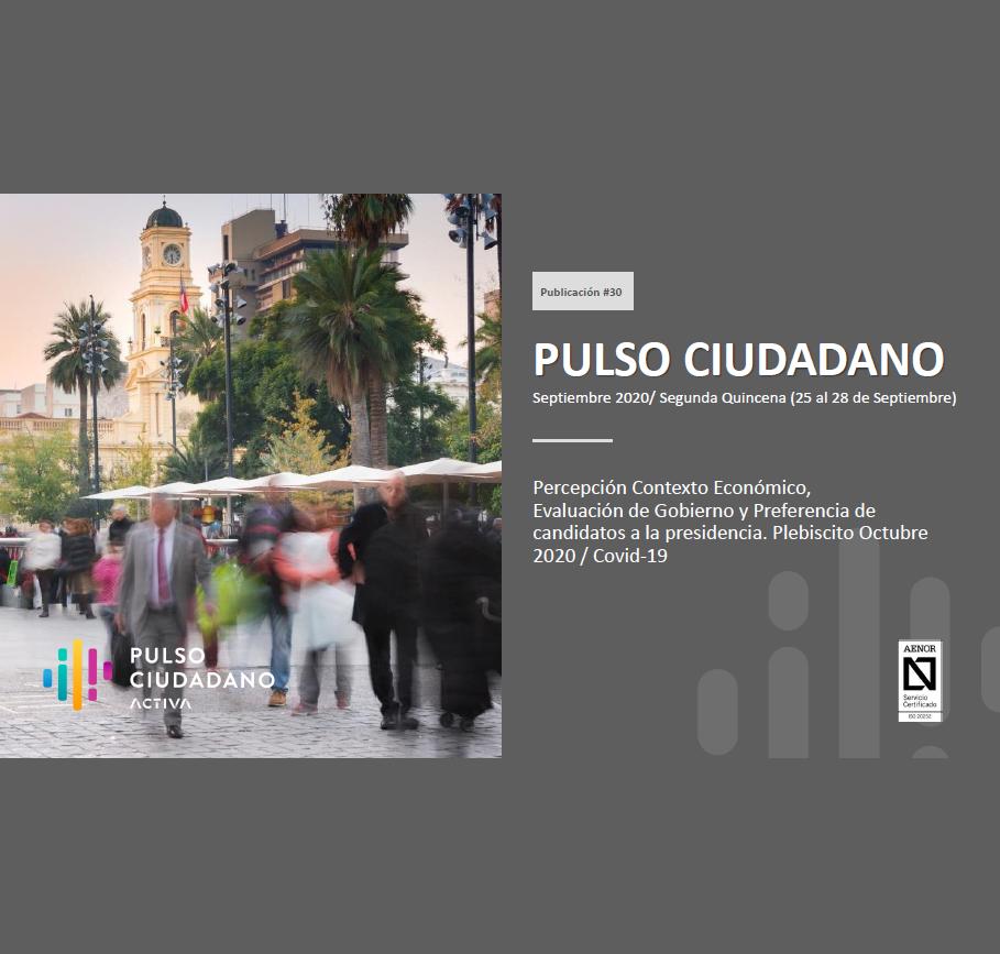 Estudio: PULSO CIUDADANO Septiembre 2020/ Segunda Quincena (25 al 28 de Septiembre)