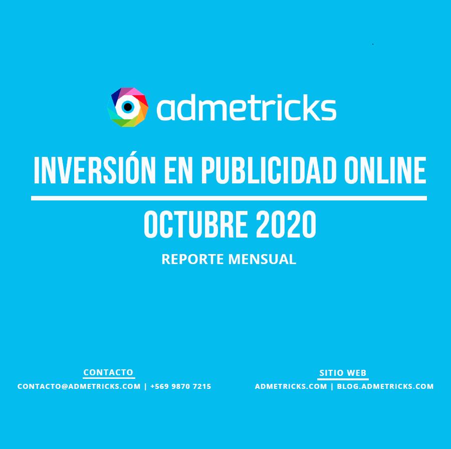 Estudio: Inversión en publicidad online – octubre 2020 reporte mensual