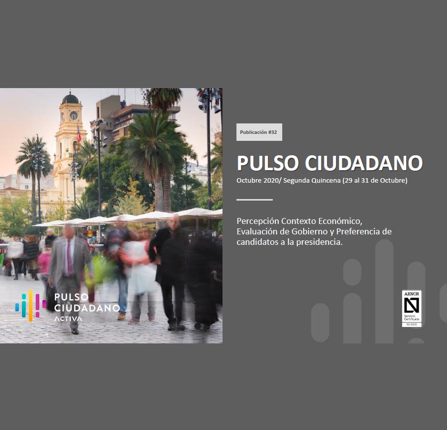 Estudio: PULSO CIUDADANO Octubre 2020/ Segunda Quincena (29 al 31 de Octubre)