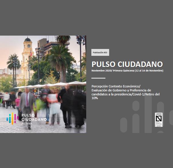 Estudio: PULSO CIUDADANO Noviembre 2020/ Primera Quincena (12 al 14 de Noviembre)