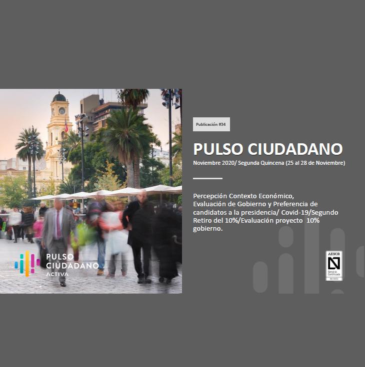 Estudio: PULSO CIUDADANO Noviembre 2020/ Segunda Quincena (25 al 28 de Noviembre)