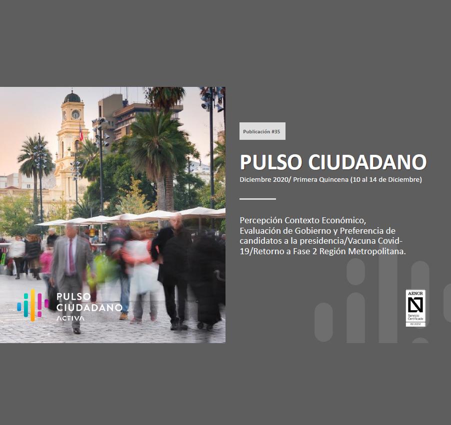Estudio: PULSO CIUDADANO Diciembre 2020/ Primera Quincena (10 al 14 de Diciembre)