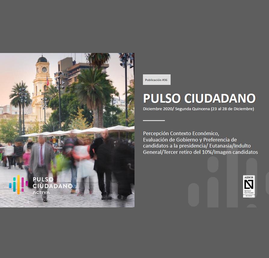 Estudio: PULSO CIUDADANO Diciembre 2020/ Segunda Quincena (23 al 28 de Diciembre)