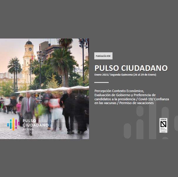 Estudio: PULSO CIUDADANO Enero 2021 / Segunda Quincena (26 al 29 de Enero)