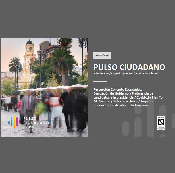 Estudio: PULSO CIUDADANO Febrero 2021/ Segunda Quincena (23 al 26 de Febrero)