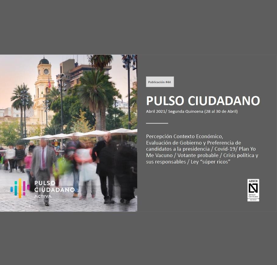 Estudio: Pulso Ciudadano – Abril 2021/ Segunda Quincena (28 al 30 de Abril)