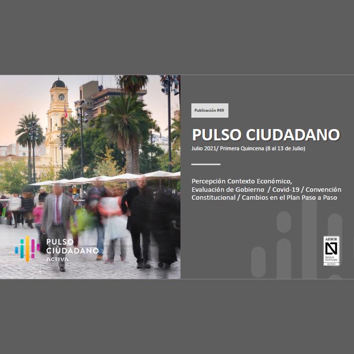 Estudio: Pulso Ciudadano – Julio 2021/ Primera Quincena (8 al 13 de Julio)
