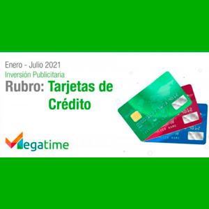 Estudio: Inversión publicitaria del rubro Tarjetas de Crédito 2021 – agosto