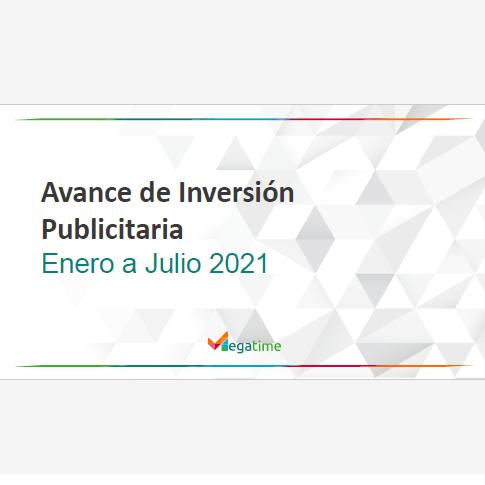 Estudio: Avance de Inversión Publicitaria Enero a Julio 2021