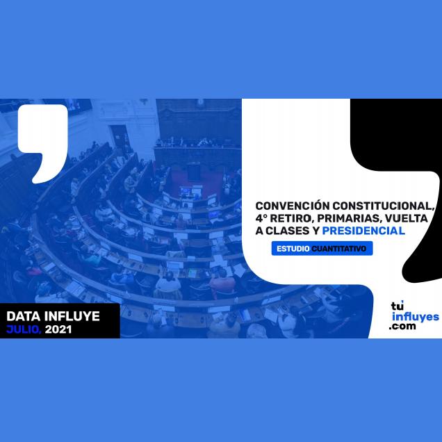 Estudio: Convención constitucional, 4° retiro, primarias, vuelta a clases y presidencial