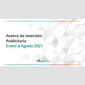 Estudio: Avance de inversión publicitaria – enero a agosto 2021