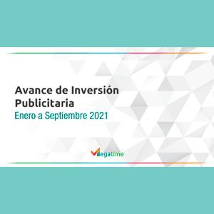 Estudio: Avance de Inversión  Publicitaria Enero a Septiembre 2021