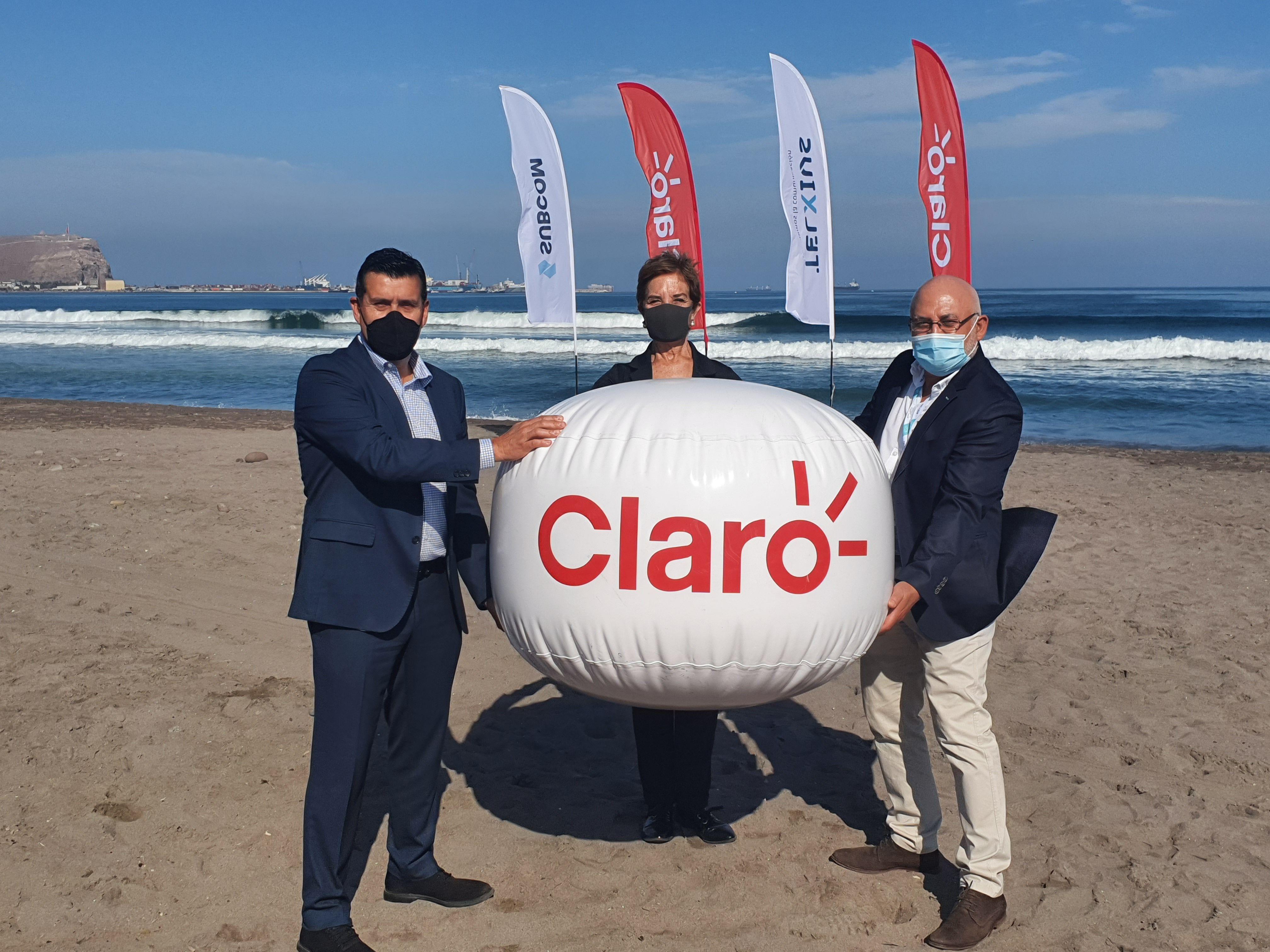 Telxius y Claro Chile dieron a conocer la llegada de un nuevo cable de fibra óptica submarina en dos puntos de amarre: Valparaíso y Arica